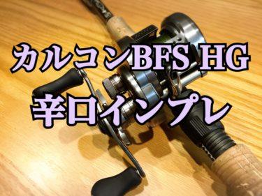 【シマノ】17カルカッタコンクエストBFS HG 辛口インプレッション