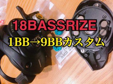 【カスタム】18バスライズを1BB→9BBへ改造!使用感の変化もインプレ!