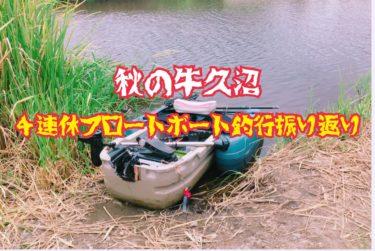 【牛久沼でフロートボート】秋の4連休に挑んだ牛久沼釣行振り返り